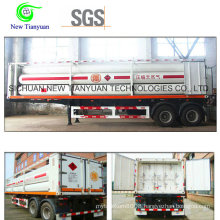 17m3 Volume Tube Skid Container Semi Trailer