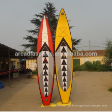Planches gonflables colorées de SUP de planche à voile de surf de Paddleboard de course gonflable