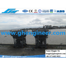 De Dusting Jetty Wharf Harbour Feeder Mobile Hopper for Iro Handling