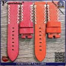 Yxl-755 Los relojes más nuevos de encargo asombrosos Genuine Stingray Leather Strap