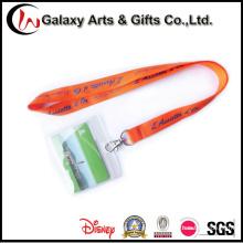 Escuela del PVC tarjeta de identificación titular con cordón papelería logotipo personalizado