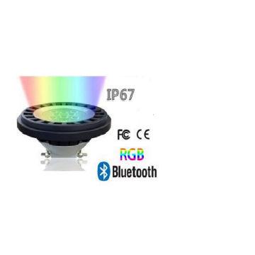 IP67 Waterproof Bluetooth Dimmable RGB LED Spotlight PAR36 AR111