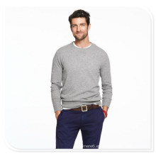 Suéter de cachemir para hombres Suéter de punto largo y cachemir de cuello redondo de manga larga