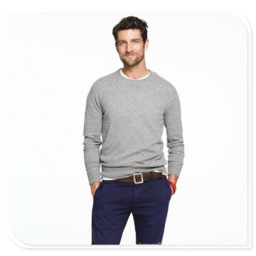 Herren Cashmere-Pullover mit langen Ärmeln Rundkragen Pure Cashmere-Strickpullover