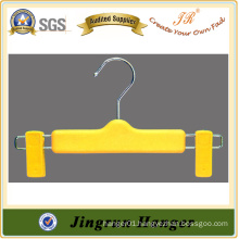 2015 New Fashion Yellow Plastic Baby Pants Hanger