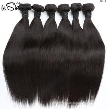2017 Nouvelle Arrivée 100% De Cheveux Humains Armure De Soie Droite Cheveux Raides Brésiliens Cheveux Vente Vierge 40 Pouces