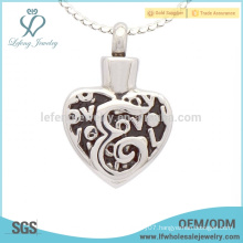 Cremation heart lockets for ashes,stainless steel keepsake memorial jewelry