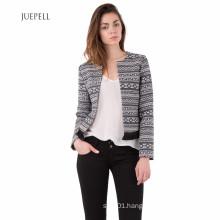Jacquard Fringe Fashion Jacket Women Coat