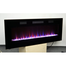 Bulit in & Wall Mounted Electric Fireplace with Heating in Front
