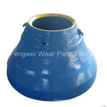 Mn18cr2 OEM HP Series Metso Crusher Spare Parts