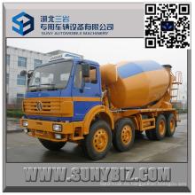 Camión mezclador de concreto 12 Wheeler North Benz 9000 Liter
