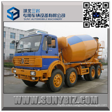 12 Wheeler North Benz 9000 Litre Concrete Mixer Truck