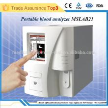 Analyseur d'hématologie portable 3 diff / équipement d'hématologie populaire en Chine MSLAB21