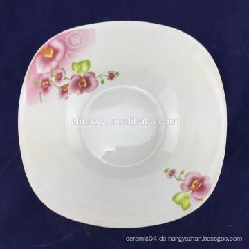 feine Porzellan Salatschüssel quadratische Form