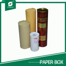 Tube en papier en carton personnalisé en tôle avec couvercle