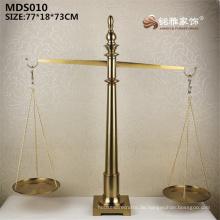 Chinesische Art Hauptdekoration glückliche Einzelteilmetallhandwerkskala-Statue