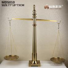 Décoration de maison de style chinois objet chanceux métier en métal échelle statue