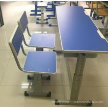 Bureau et chaise étudiante à hauteur variable avec une bonne qualité