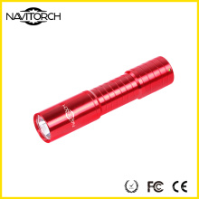 Recarregando liga de alumínio tocha edc / lanterna led (nk-208)