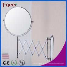 Fyeer dobrável redondo espelho de parede decorativo de maquiagem de banheiro (m0318)