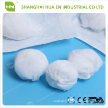 Avec CE FDA ISO approuvé stérile bon absorbent la boule de coton jetable chirurgicale