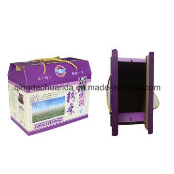 Caixa ondulada da cor / caixa de presente expressa / caixa cor da E-Flauta