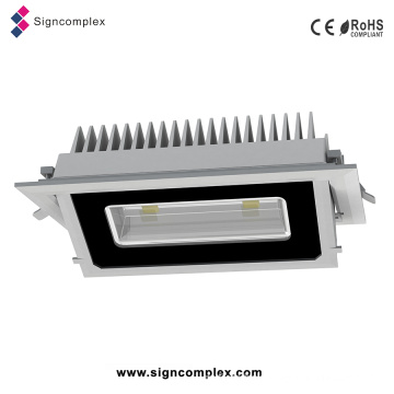 China Epistar 5730SMD 20W/30W Recessed Rectangular LED Ceiling Light