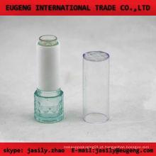 Moda rodada bálsamo lábio transparente caso