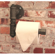 TOILET ROLL HOLDER L Shape Vintage Washroom Bathroom