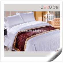 Melhor qualidade poliéster decoração por atacado Linens Hotel Bed Runner