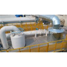 Technologie d'énergie propre! usine de pyrolyse semi-automatique de pneu de rebut de prix bas 10t / d.