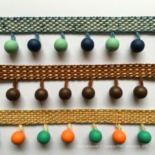 Accessoires pour la maison Abat-jour en fil de polyester à franges perlées