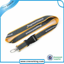 Top Quality Polyester Satin Woven Lanyards with Buckle