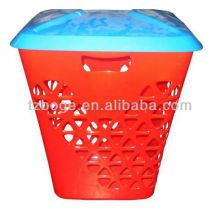 Molde de injeção plástica da cesta de lavanderia