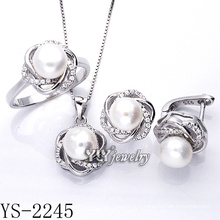 Silver Jewelry Pearl Set 925 Silver for Party (YS-2245)
