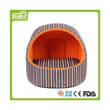 Lit de chien fait à la main, lit de maison de chien d'intérieur (HN-pH553)