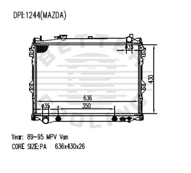 Auto Radiator For MAZDA 89-95 MPV Van