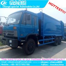 8-10cbm Dongfeng plana cabina 4 X 2 compactador / comprimido Garabge carro