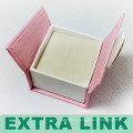 Pink Foldable Customized Logo Diamond Jewelry Set Packaging Box With Magnetic Lock