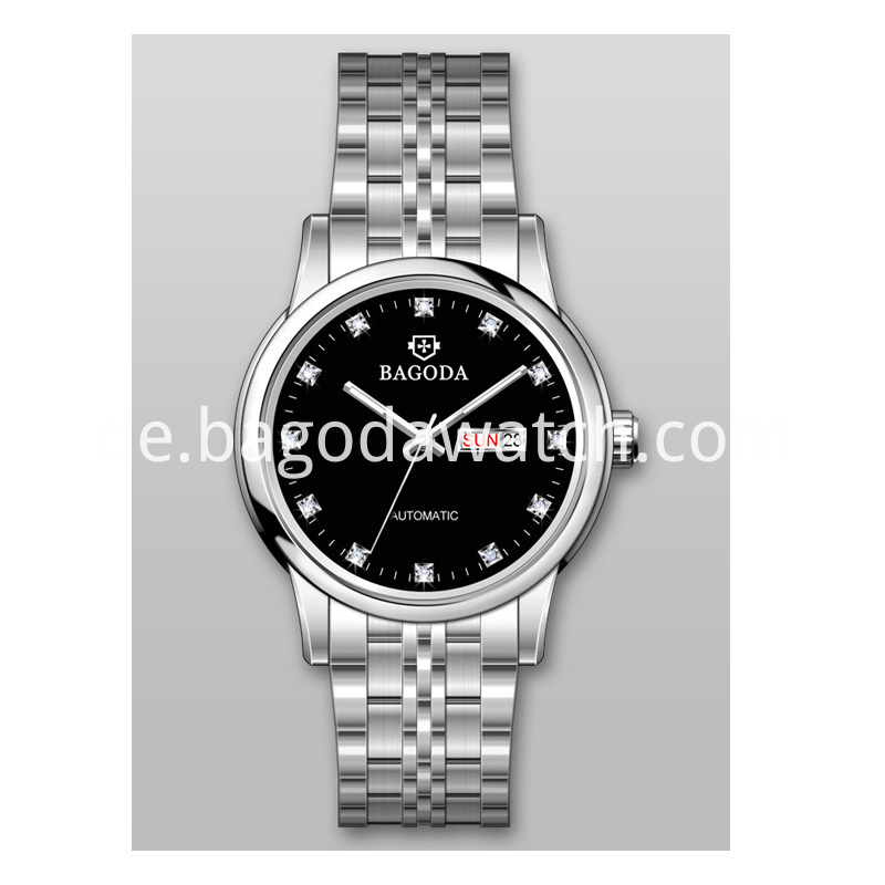Black dial watch