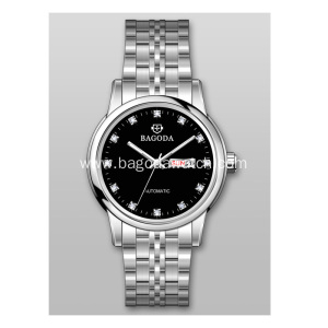 Luxury black dial watch for womens'