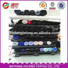 Stock tela de popelina de algodón 100% 44 * 45 de algodón poliéster mezclada tela de popelina teñida lisa