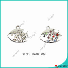 Zinc Alloy Metal Fish Charm pendant