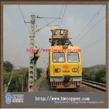copper trolley wire