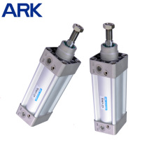 Cilindro neumático de aire de aluminio de acción simple de Si