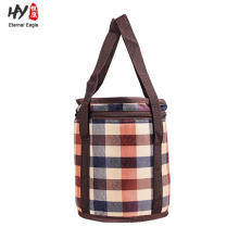 Folding Picnic Basket Insulated Cooler Shopping Bag
