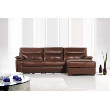 Echtes Leder Chaise Leder Sofa Elektrisch Verstellbares Sofa (717)