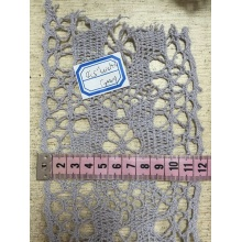 Cotton Lace with Weaving, Customized Width and Color.