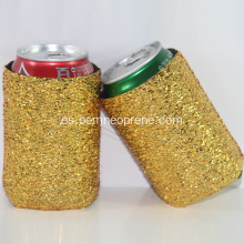 Glitter folding Neoprene Can Holder Cooler