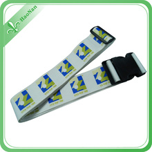 Colorful Polyester Material Sublimation Printing Travelling Elastic Luggage Neck Strap